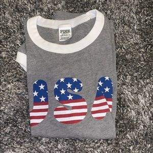 usa tee from pink
